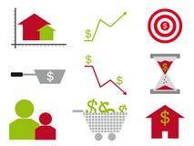 Logotipos de las finanzas corporativas y públicas Imagenes de archivo