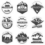 Logotipos de las montañas del vintage fijados libre illustration