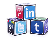 logotipos de medios sociales Foto de archivo