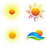 Logotipos de Sun Fotografia de Stock Royalty Free