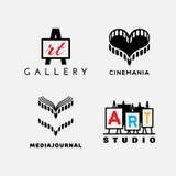 Logotipos del arte y del cine Imagen de archivo libre de regalías