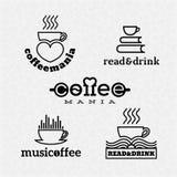 Logotipos del café Foto de archivo libre de regalías