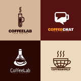 Logotipos del café Imágenes de archivo libres de regalías