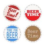 Logotipos del casquillo de la botella de cerveza Fotografía de archivo libre de regalías