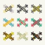 Logotipos del club de Longboard Imagenes de archivo