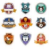 Logotipos del club del fútbol Foto de archivo libre de regalías
