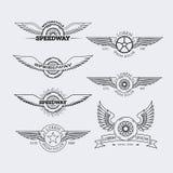 Logotipos del esquema fijados Foto de archivo libre de regalías