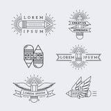 Logotipos del esquema fijados Fotos de archivo libres de regalías