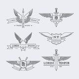 Logotipos del esquema fijados Fotos de archivo