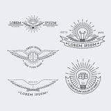 Logotipos del esquema fijados Fotografía de archivo libre de regalías