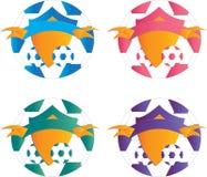 Logotipos del fútbol Fotos de archivo libres de regalías