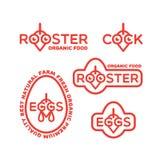 Logotipos del gallo Imagen de archivo libre de regalías