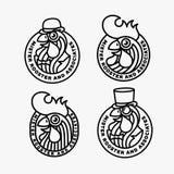 Logotipos del gallo Fotos de archivo libres de regalías