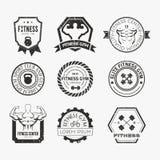 Logotipos del gimnasio de la aptitud y del deporte Imagenes de archivo