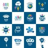 Logotipos del grupo social Fotografía de archivo libre de regalías