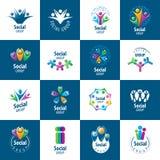 Logotipos del grupo social ilustración del vector