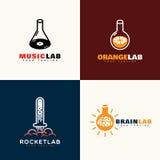 Logotipos del laboratorio Imagen de archivo libre de regalías