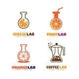Logotipos del laboratorio fijados Foto de archivo