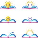 Logotipos del libro ilustración del vector