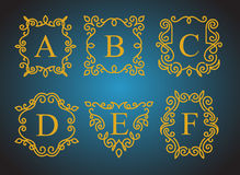 Logotipos del monograma fijados ilustración del vector