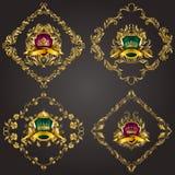 Logotipos del monograma fijados Foto de archivo libre de regalías