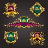 Logotipos del monograma fijados Fotografía de archivo