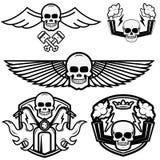 Logotipos del motorista Imagen de archivo libre de regalías