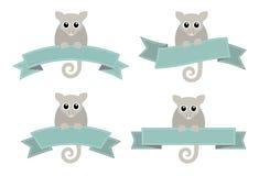 Logotipos del oposum del Ringtail imagen de archivo