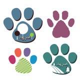 Logotipos del parque del perro Imágenes de archivo libres de regalías