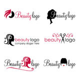 Logotipos del pelo y de la belleza Fotos de archivo