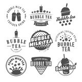 Logotipos del té de la burbuja del vector Foto de archivo