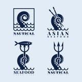 Logotipos del tentáculo fijados Imagenes de archivo