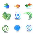 Mezcla de los logotipos del vector Fotos de archivo