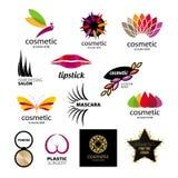 Logotipos del vector para los cosméticos y el cuidado del cuerpo Imágenes de archivo libres de regalías