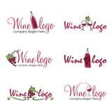 Logotipos del vino Fotografía de archivo