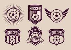 Logotipos diferentes e equipas de futebol dos ícones Fotos de Stock Royalty Free