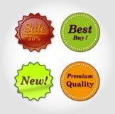 Logotipos do alimento ilustração royalty free