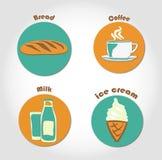 Logotipos do alimento ilustração do vetor