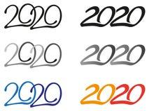 Logotipos do ano 2020 ilustração stock