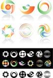 Logotipos do círculo ilustração royalty free