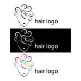 Logotipos do cabelo Fotografia de Stock Royalty Free