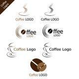 Logotipos do café ilustração stock