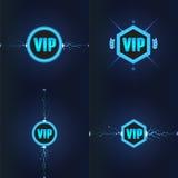 Logotipos do clube do VIP ajustados Ilustração do vetor Imagens de Stock Royalty Free