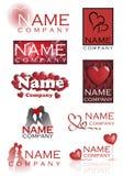 Logotipos do coração do amor Imagens de Stock