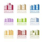 Logotipos do edifício Imagem de Stock