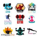Logotipos do Gym da aptidão Fotos de Stock Royalty Free
