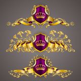 Logotipos do monograma ajustados Imagens de Stock Royalty Free