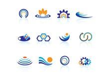 Logotipos do negócio Fotografia de Stock