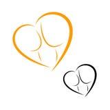 Logotipos do parto e da maternidade Imagens de Stock Royalty Free