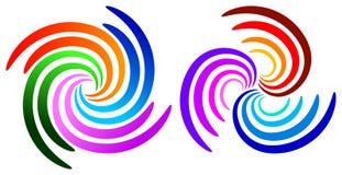 Logotipos do redemoinho ilustração stock